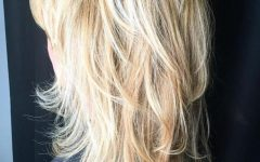 Blondie Bombshell Long Shag Hairstyles