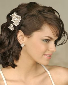Bridal Hairstyles for Medium Length Curly Hair