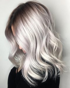 Glamorous Silver Blonde Waves Hairstyles