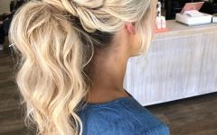Halo Ponytail Hairstyles
