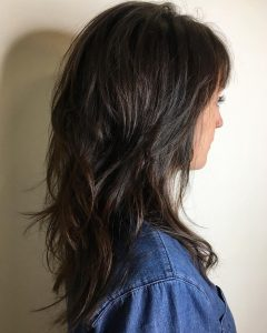 Layered And Tousled Brunette Hairstyles