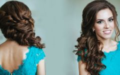 Long Side Swept Curls Prom Hairstyles