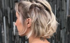 Rolled Half Updo Bob Braid Hairstyles