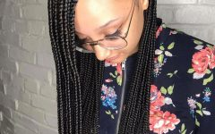 Side-parted Loose Cornrows Braided Hairstyles