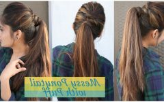 Simple Side Messy Ponytail Hairstyles