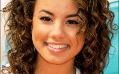 Medium Haircuts Curly Hair Round Face