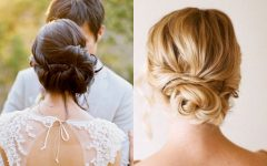 Low Bun Updo Wedding Hairstyles