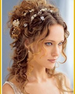 Wedding Updo Hairstyles for Long Curly Hair
