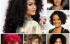 Medium Haircuts for Curly Black Hair