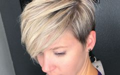 Side-Parted Blonde Balayage Pixie Hairstyles