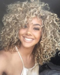 White Blonde Curls Hairstyles