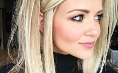 Sleek White Blonde Lob Hairstyles
