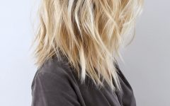 Tousled Beach Babe Lob Blonde Hairstyles
