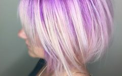 Blonde Bob Hairstyles with Lavender Tint