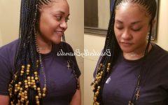 Box Braid Bead Ponytail Hairstyles