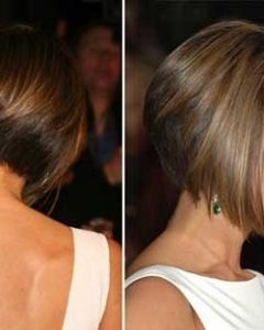 Victoria Beckham Graduated Choppy Bob Hairstyles