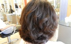 Loosely Waved Messy Brunette Bob Hairstyles
