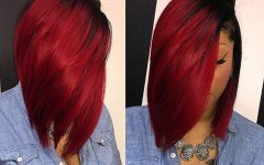 Radiant Red Bob Haircuts