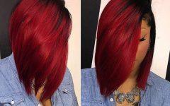 Radiant Red Bob Haircuts