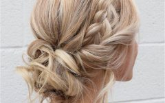 Messy Crown Braid Updo Hairstyles