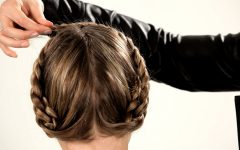 Pinned Up French Plaits Hairstyles