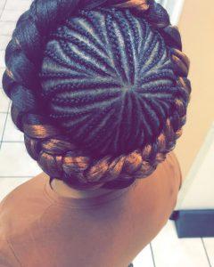 Crown Cornrow Hairstyles