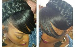 Halo Braided Hairstyles with Bangs