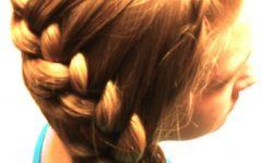 Asymmetrical French Braid Hairstyles