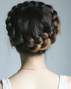 Angular Crown Braid Hairstyles