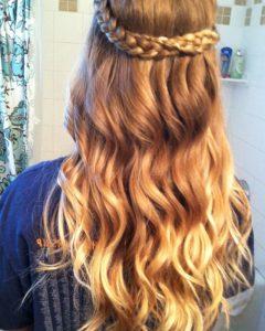 Braided Crown Rose Hairstyles