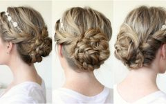 Floral Braid Crowns Hairstyles for Prom