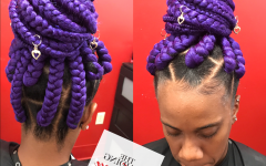 Lavender Braided Mohawk Hairstyles