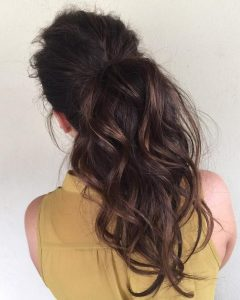 Ponytail Hairstyles For Brunettes