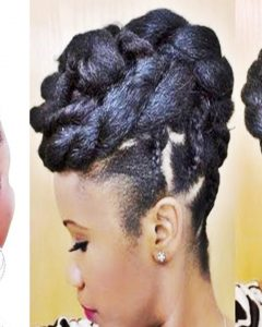 Black Braided Bun Updo Hairstyles