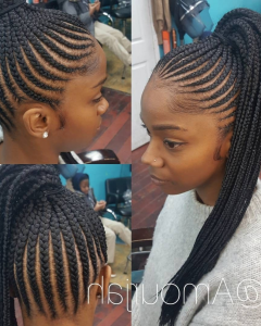 Fiercely Braided Ponytail Hairstyles