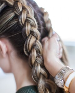 Double Plaiting Ponytail Hairstyles