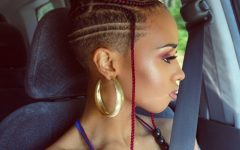 Side-shaved Cornrows Braids Hairstyles
