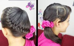 Diagonally Braided Ponytail Hairstyles