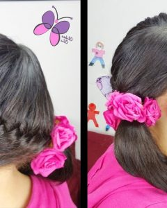 Diagonally Braided Ponytail Hairstyles