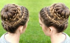 Double-crown Updo Braided Hairstyles