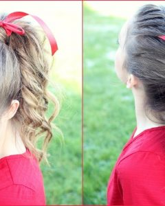 French Braid Ponytail Hairstyles With Curls