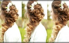 Long Cascading Curls Prom Hairstyles
