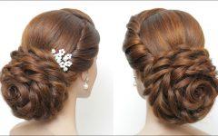 Floral Bun Updo Hairstyles