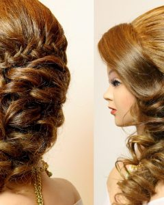 Plaits And Curls Wedding Hairstyles