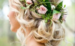 Romantic Florals Updo Hairstyles