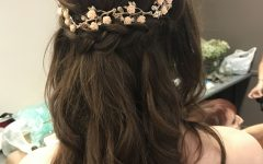 Wedding Semi Updo Bridal Hairstyles with Braid