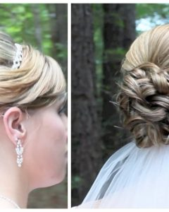 Wedding Updos Hairstyles for Medium Length Hair