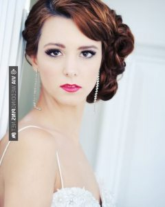 Vintage Asymmetrical Wedding Hairstyles