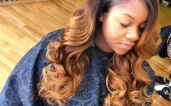 Soft Highlighted Curls Hairstyles with Side Part