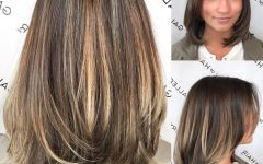 Lob Hairstyles with Face-framing Layers